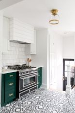 Kitchens design ideas with green walls 16