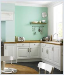 Kitchens design ideas with green walls 22