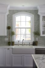 Kitchens design ideas with green walls 49