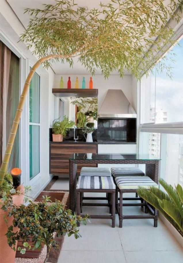 Modern apartment balcony decorating ideas 87