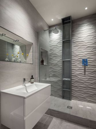 Modern small bathroom tile ideas 013