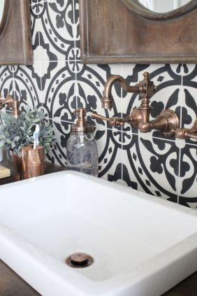 Modern small bathroom tile ideas 114