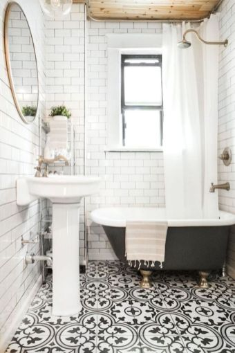 Modern small bathroom tile ideas 121