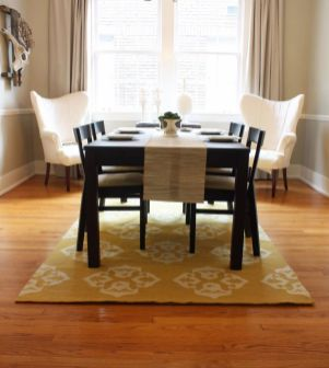 Stunning dining room area rug ideas 30