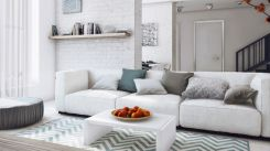 Stunning gray and white living room decor ideas 02