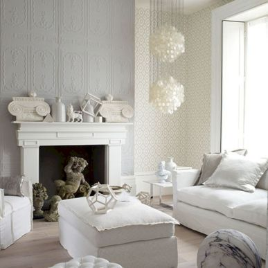 Stunning gray and white living room decor ideas 04