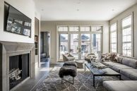 Stunning gray and white living room decor ideas 23
