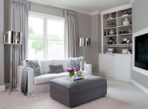 Stunning gray and white living room decor ideas 35