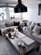 Stunning gray and white living room decor ideas 46