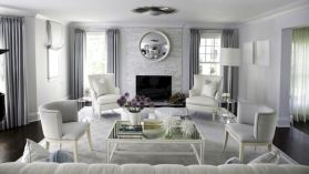 Stunning gray and white living room decor ideas 50