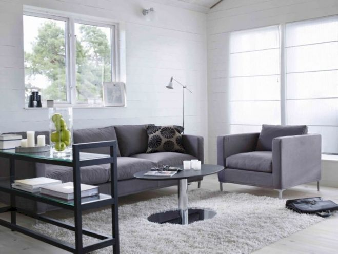 Stunning gray and white living room decor ideas 56