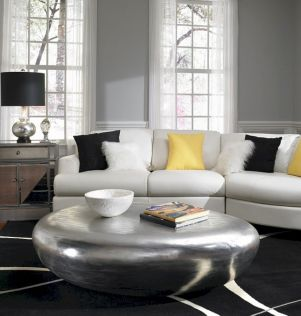 Stunning gray and white living room decor ideas 57