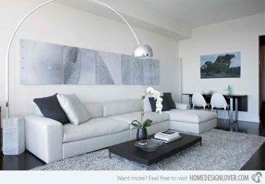 Stunning gray and white living room decor ideas 65