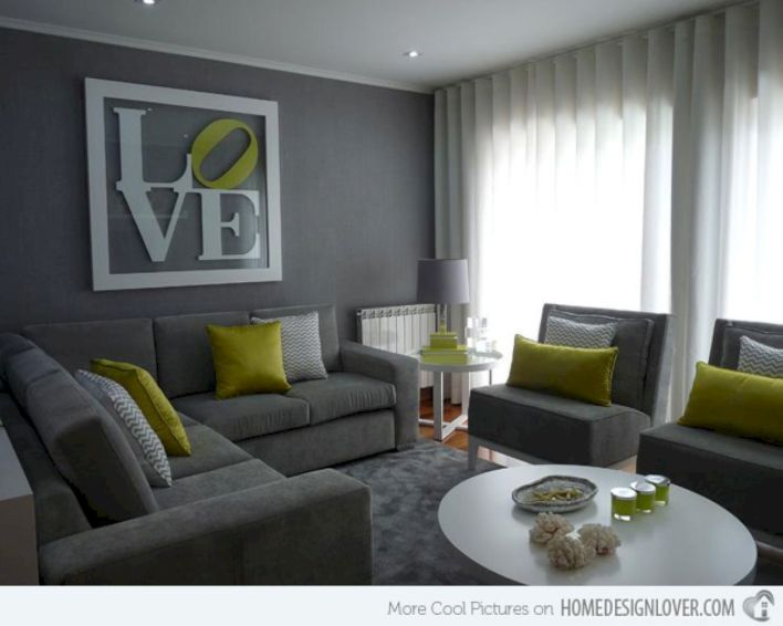 Stunning gray and white living room decor ideas 68