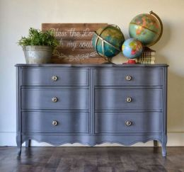 Stunning grey chalk paint furniture 19