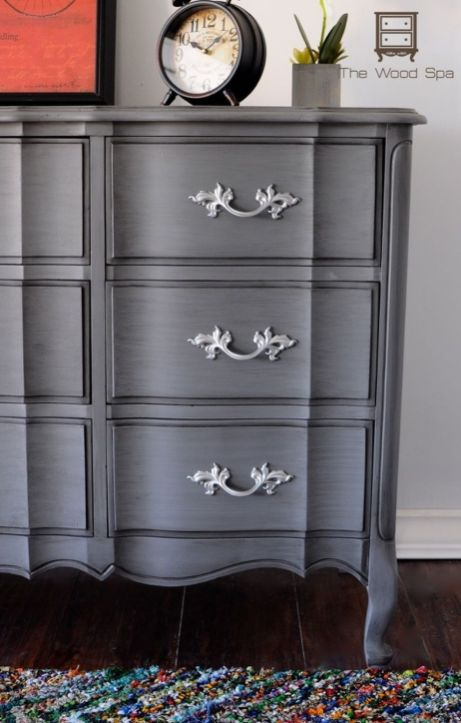 Stunning grey chalk paint furniture 20