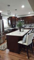 Stylish dark brown cabinets kitchen 10