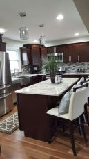 Stylish dark brown cabinets kitchen 10