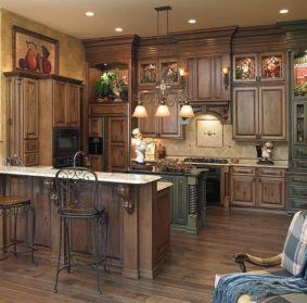 Stylish dark brown cabinets kitchen 18