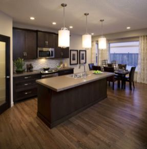 Stylish dark brown cabinets kitchen 22
