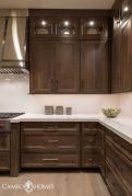 Stylish dark brown cabinets kitchen 24