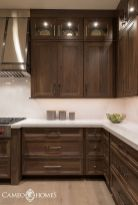 Stylish dark brown cabinets kitchen 24