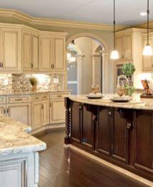 Stylish dark brown cabinets kitchen 44