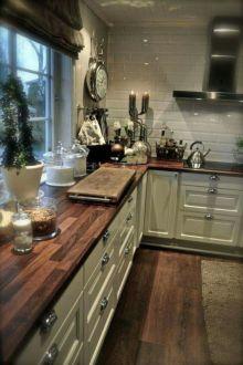 Stylish dark brown cabinets kitchen 56
