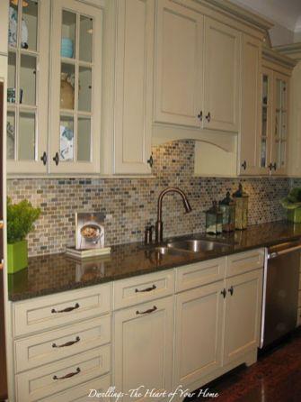 Stylish dark brown cabinets kitchen 60