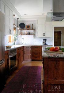 Stylish dark brown cabinets kitchen 66