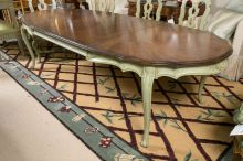 Stylish painted dining room table 19