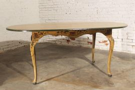 Stylish painted dining room table 21