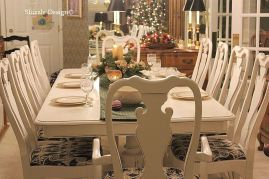 Stylish painted dining room table 22