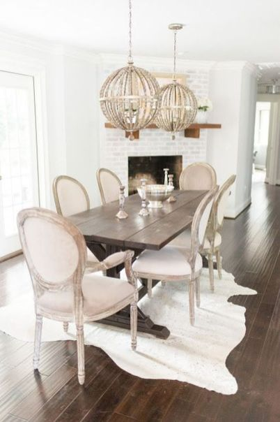 Stylish painted dining room table 28