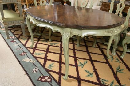 Stylish painted dining room table 37