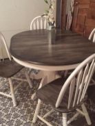 Stylish painted dining room table 43
