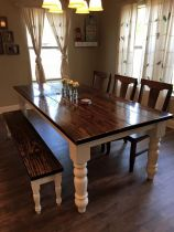Stylish painted dining room table 46