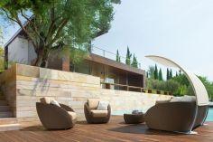 Stylish small patio furniture ideas 38