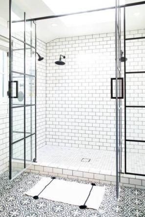 Stylish white subway tile bathroom 12
