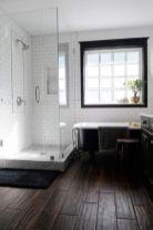 Stylish white subway tile bathroom 24