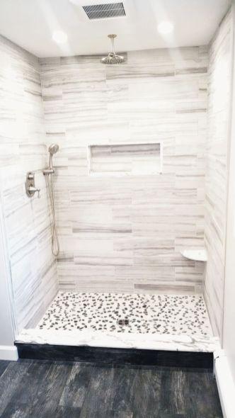Stylish white subway tile bathroom 26