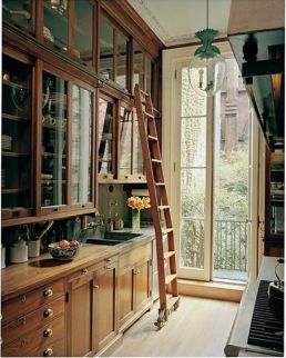 Wood and glass kitchen cabinets 07
