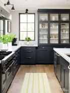 Wood and glass kitchen cabinets 11