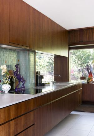 Wood and glass kitchen cabinets 13