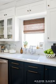 Wood and glass kitchen cabinets 20