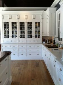 Wood and glass kitchen cabinets 31