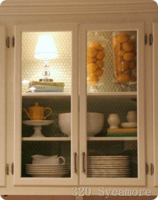 Wood and glass kitchen cabinets 38