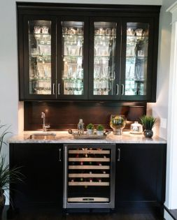 Wood and glass kitchen cabinets 47