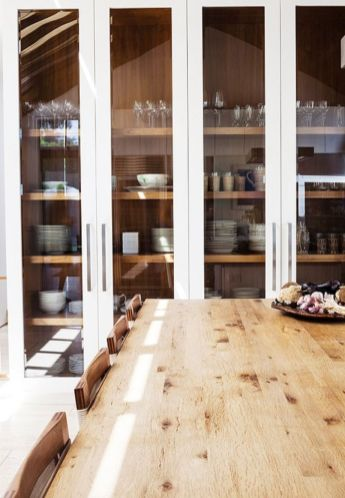 Wood and glass kitchen cabinets 48
