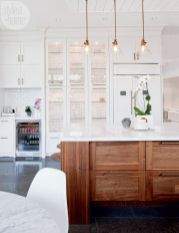 Wood and glass kitchen cabinets 49